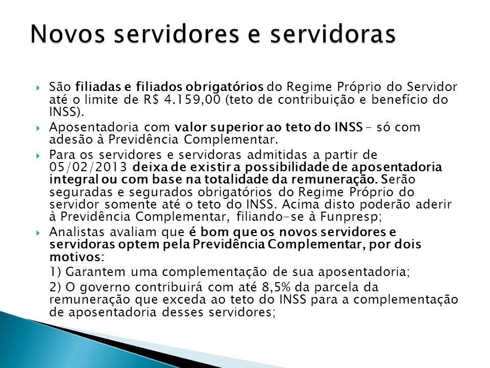 Novos servidores e servidoras