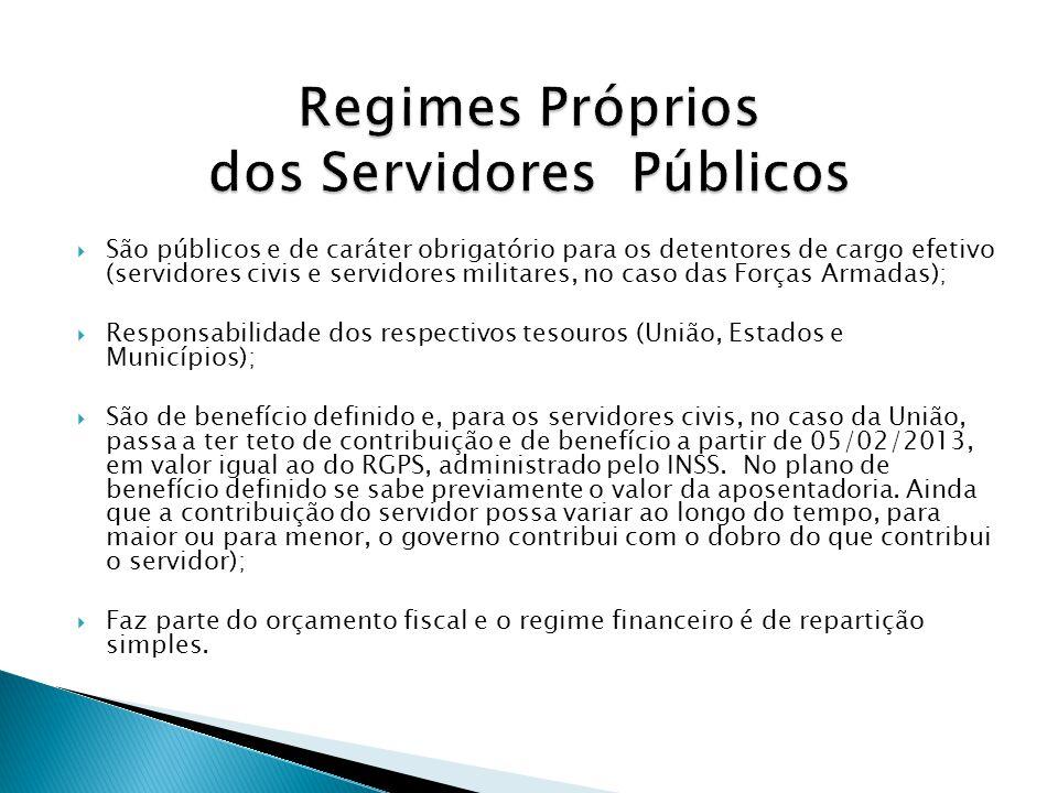 Regimes Próprios dos Servidores Públicos