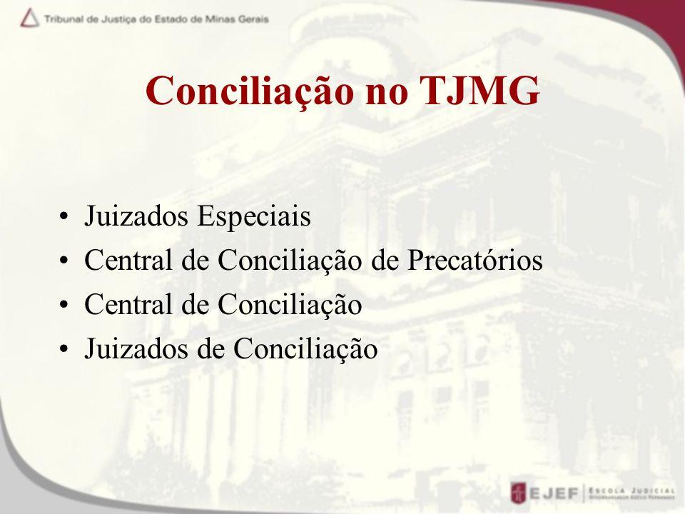 Conciliação no TJMG Juizados Especiais
