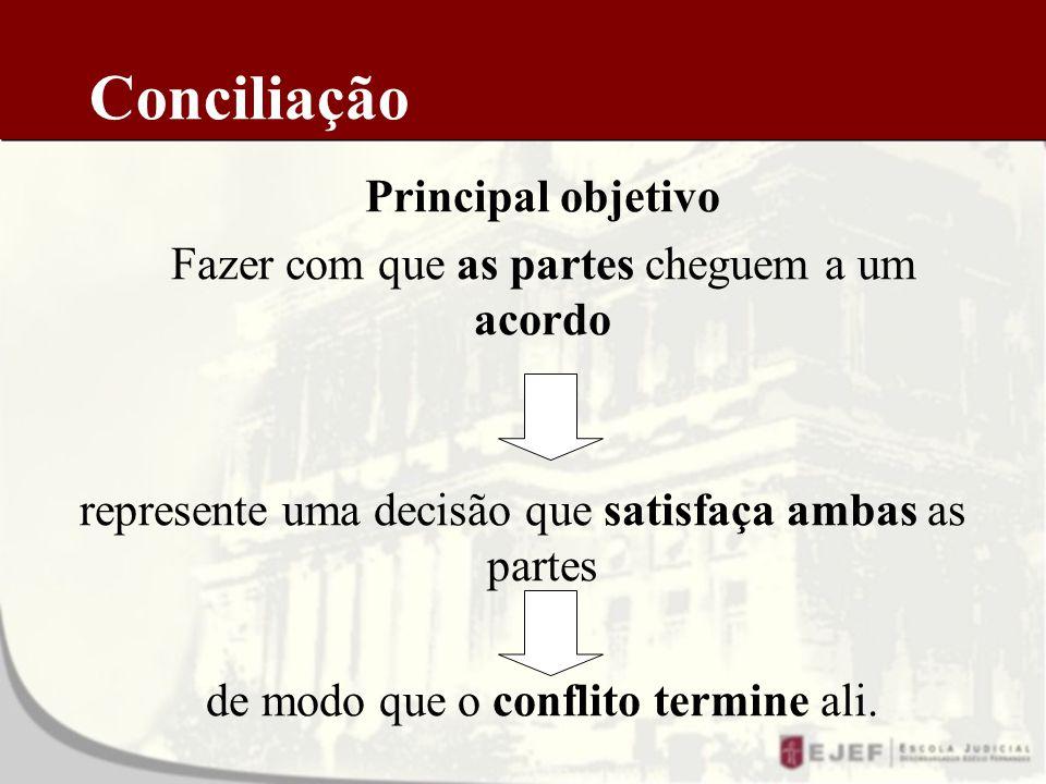 Conciliação Principal objetivo