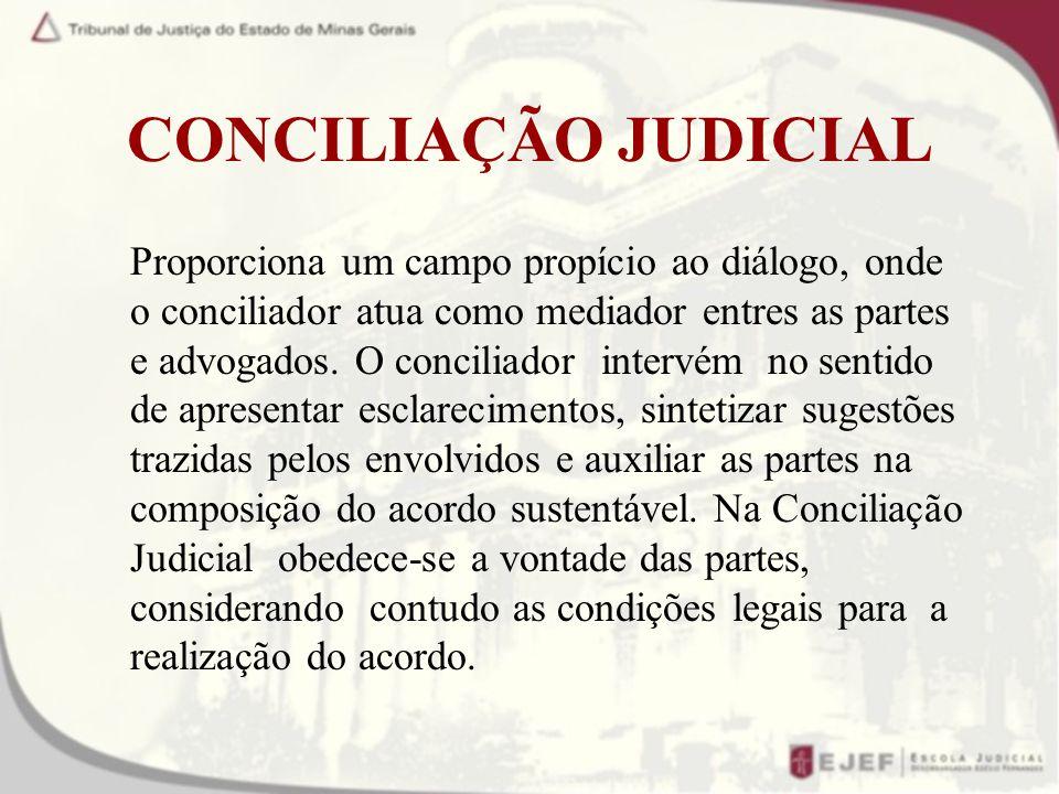 CONCILIAÇÃO JUDICIAL