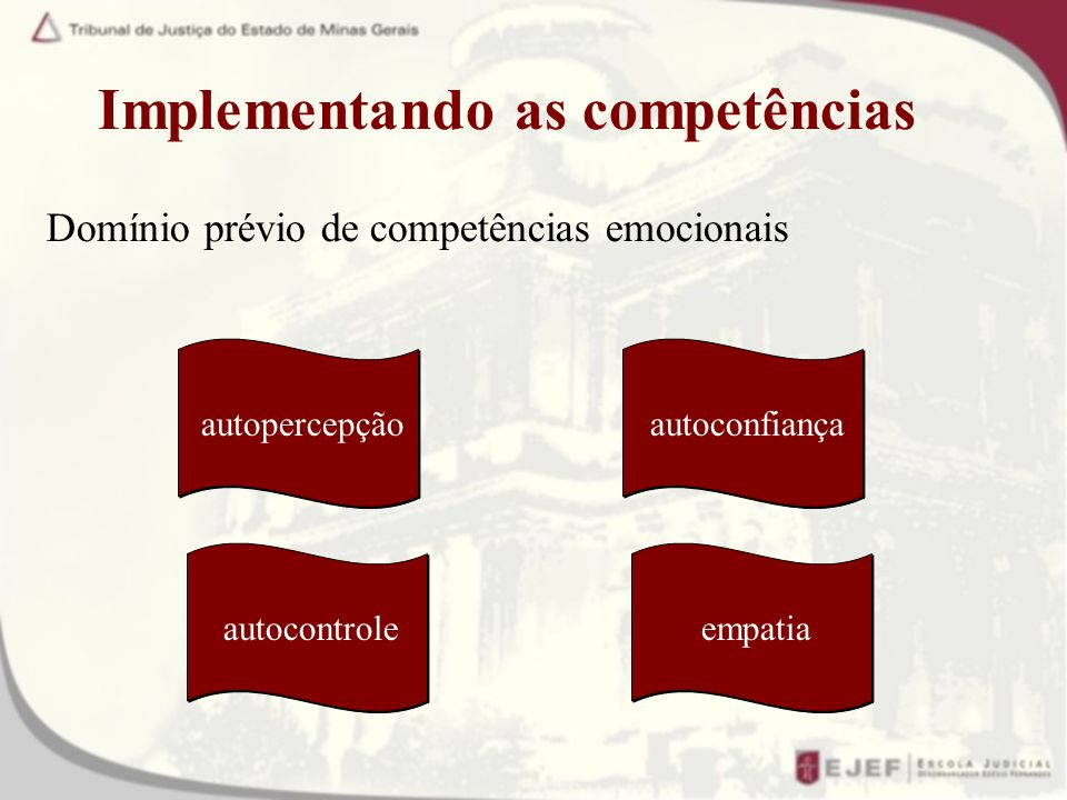 Implementando as competências