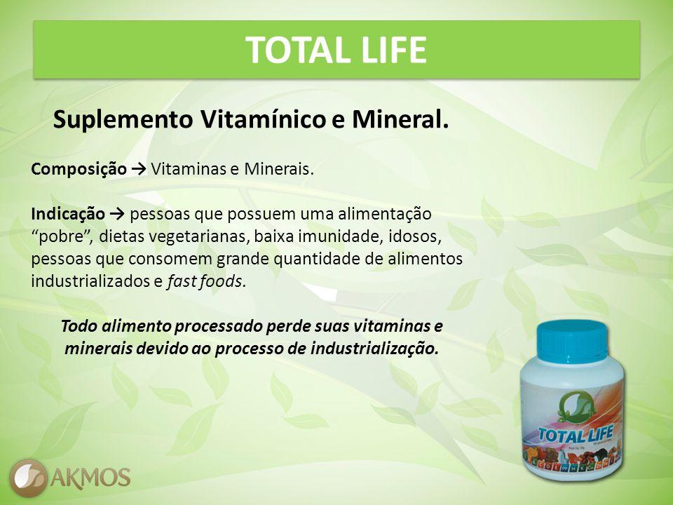 TOTAL LIFE Suplemento Vitamínico e Mineral.