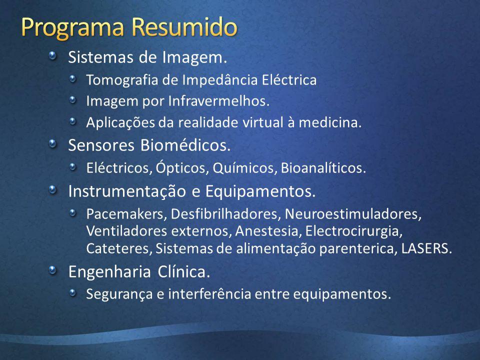 Programa Resumido Sistemas de Imagem. Sensores Biomédicos.