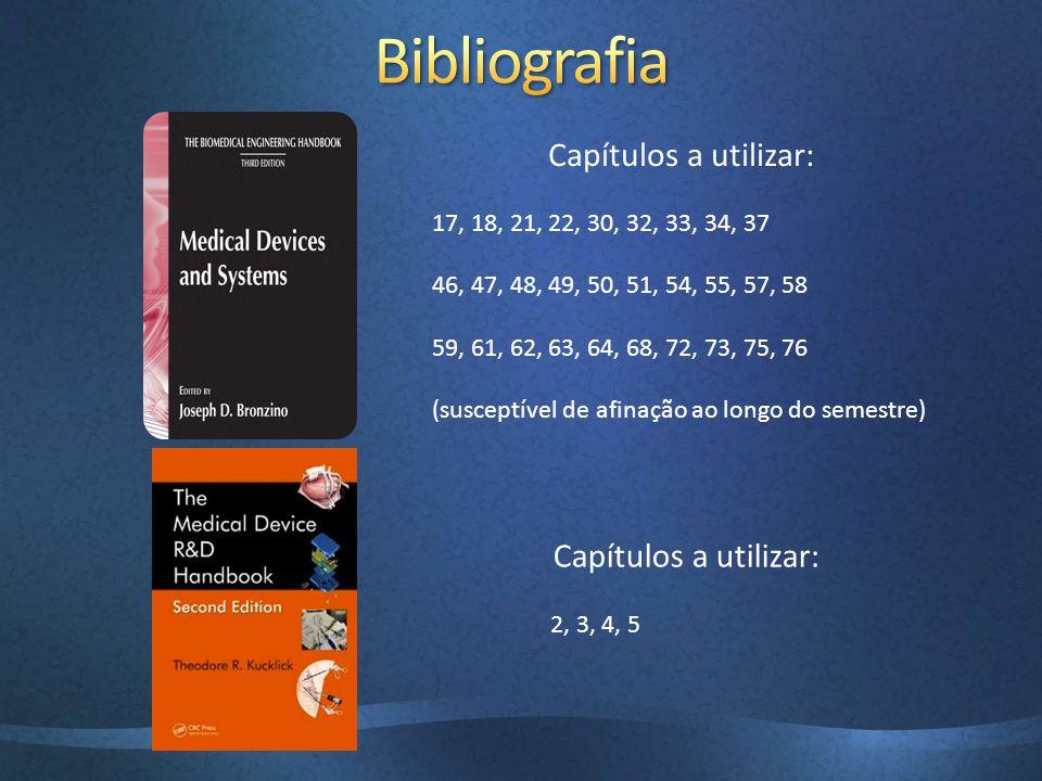 Bibliografia Capítulos a utilizar: Capítulos a utilizar: