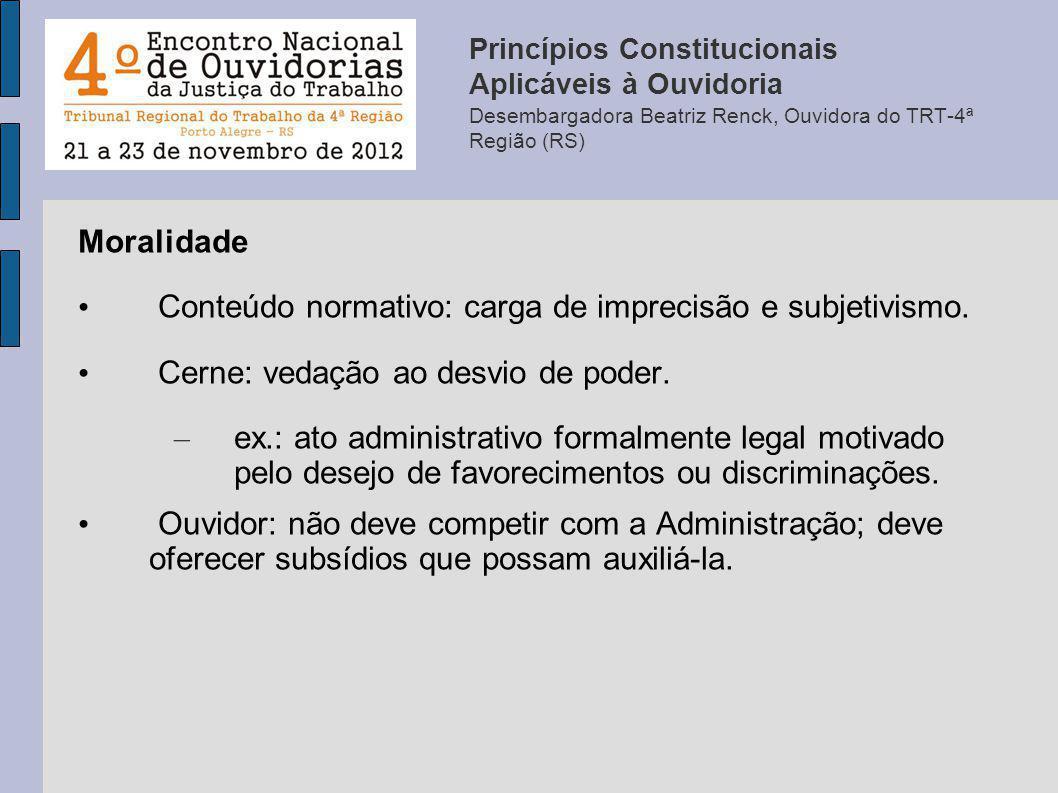 Conteúdo normativo: carga de imprecisão e subjetivismo.
