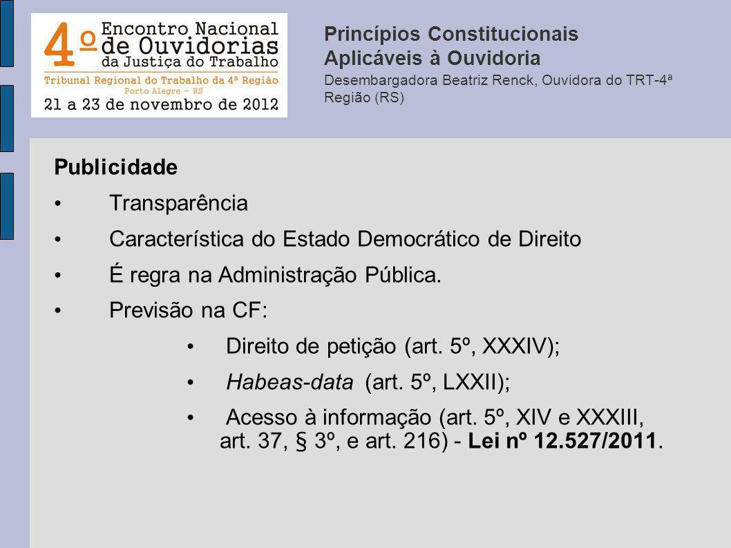 Característica do Estado Democrático de Direito