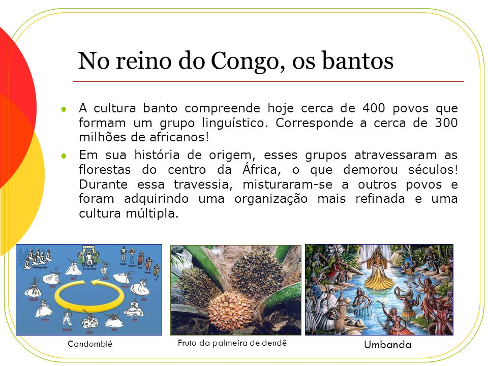 No reino do Congo, os bantos