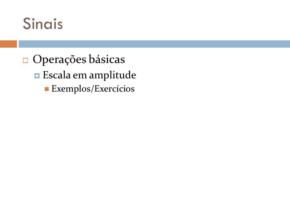 Sinais Operações básicas Escala em amplitude Exemplos/Exercícios