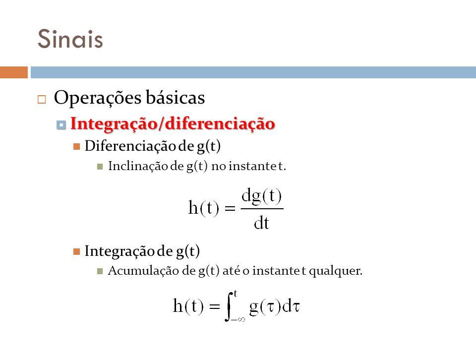 Sinais Operações básicas Integração/diferenciação