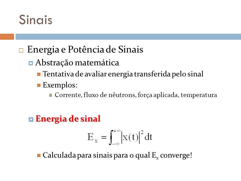 Sinais Energia e Potência de Sinais Abstração matemática