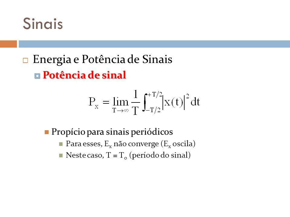 Sinais Energia e Potência de Sinais Potência de sinal