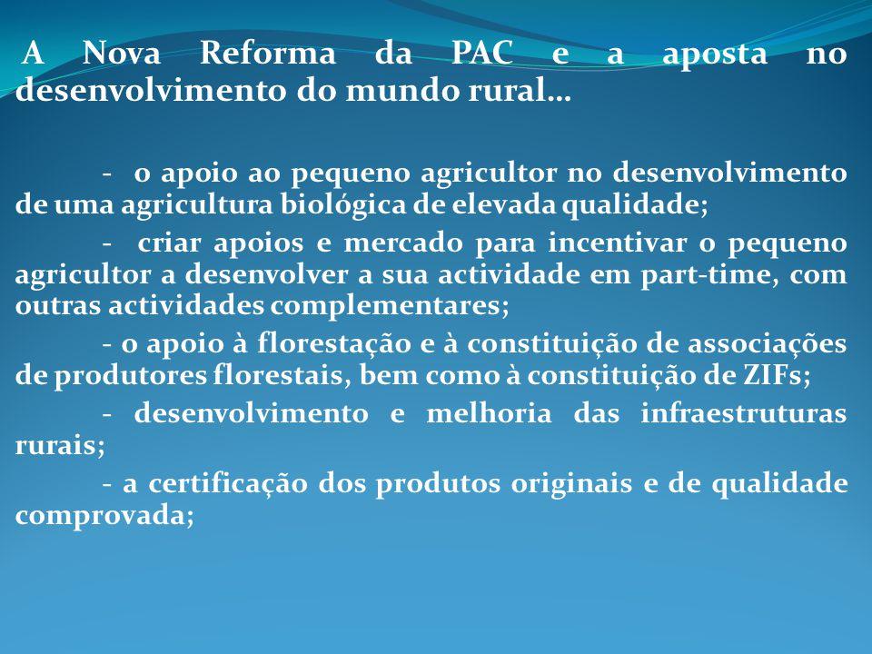 A Nova Reforma da PAC e a aposta no desenvolvimento do mundo rural…