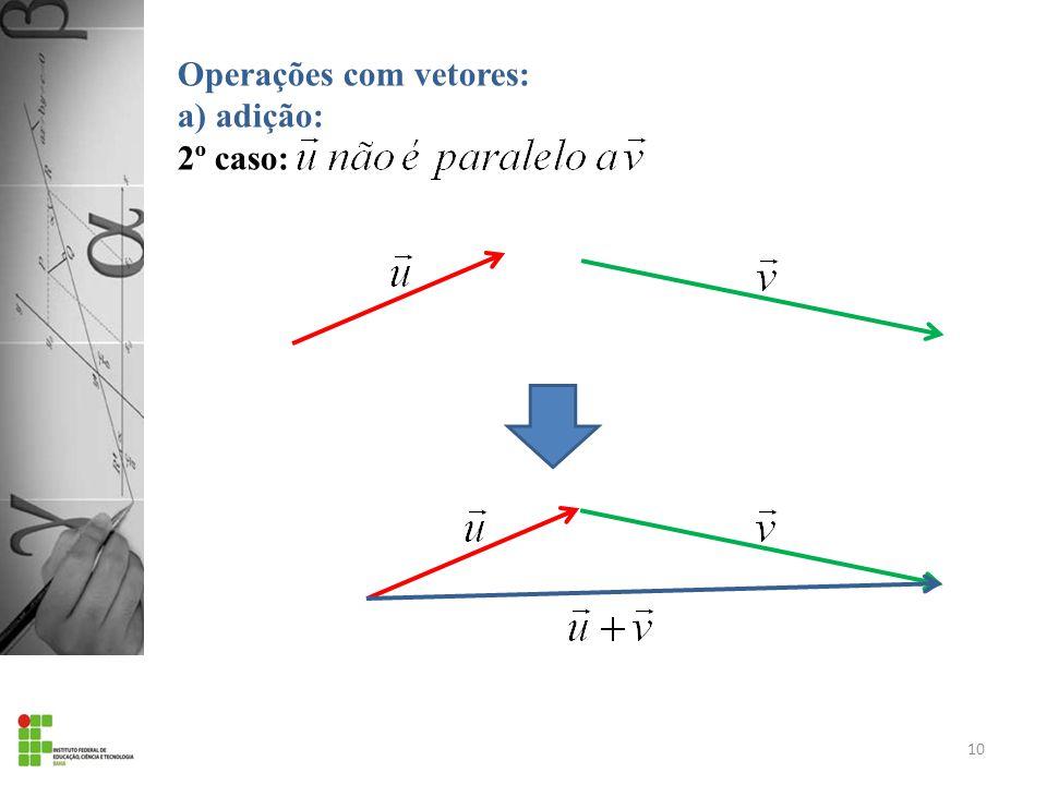 Operações com vetores: