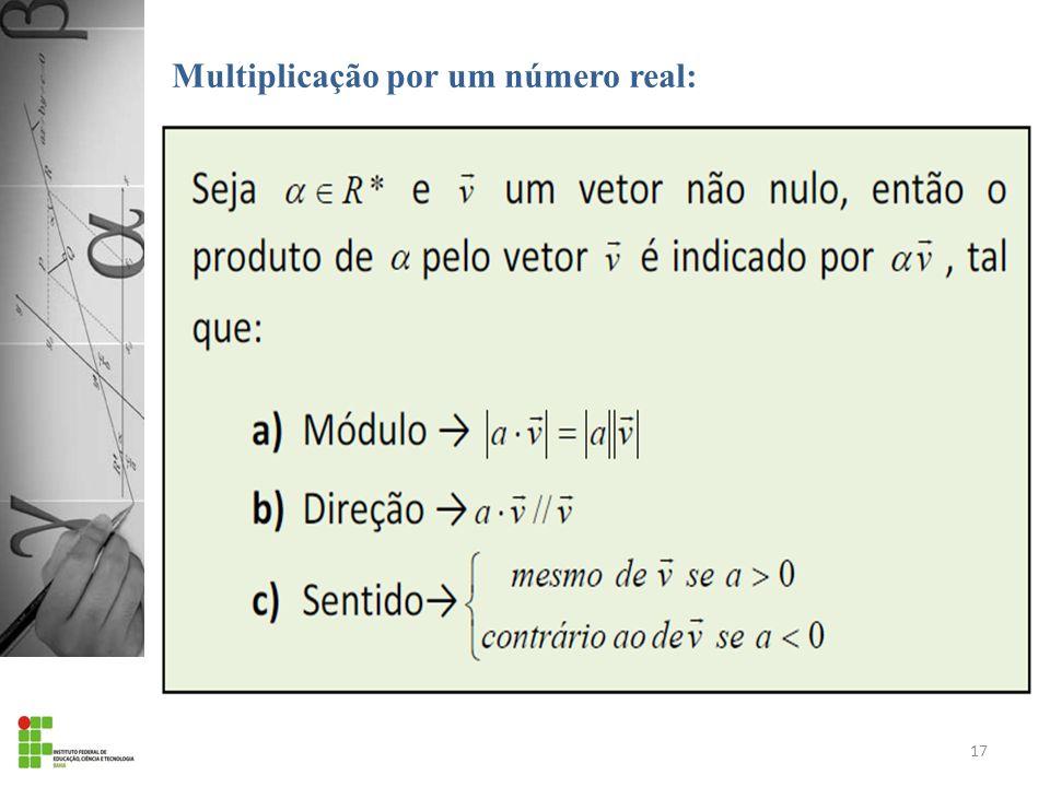 Multiplicação por um número real: