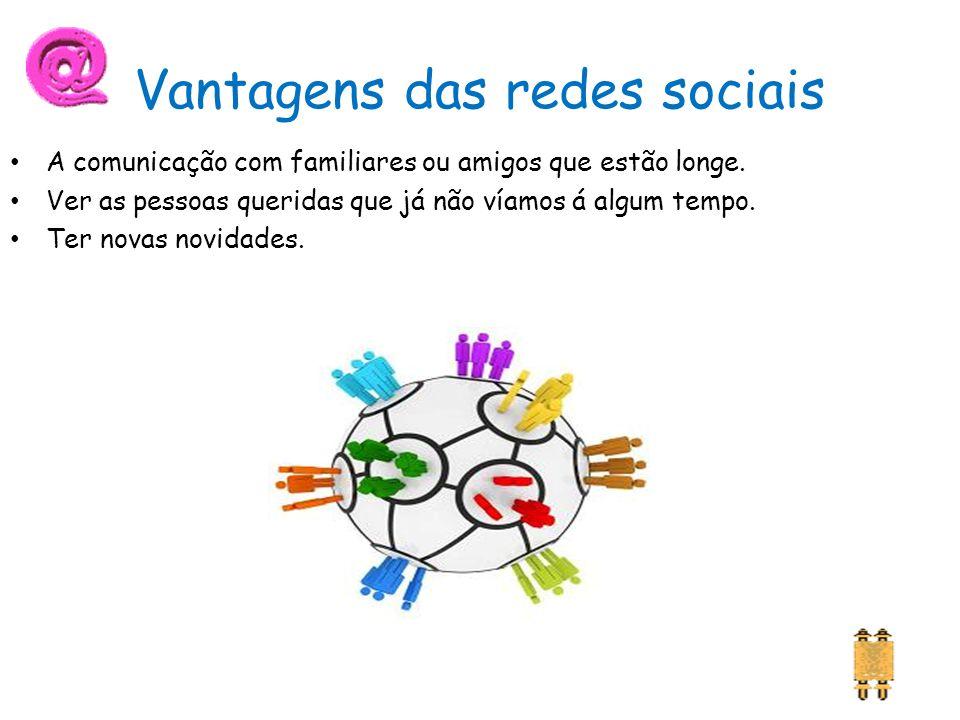 Vantagens das redes sociais