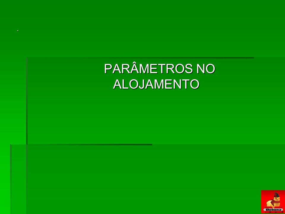 PARÂMETROS NO ALOJAMENTO