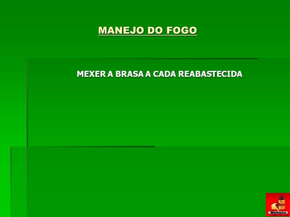 MEXER A BRASA A CADA REABASTECIDA