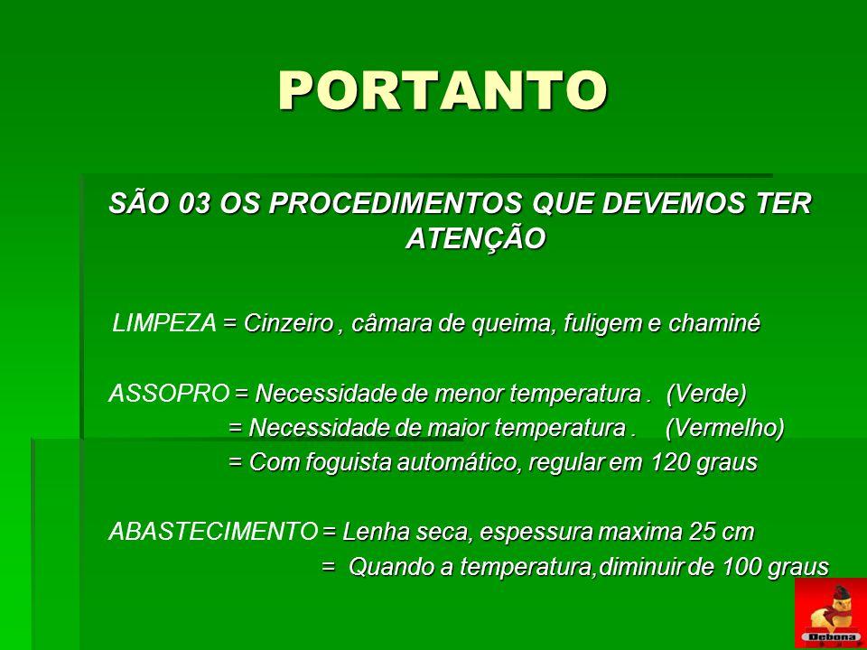 SÃO 03 OS PROCEDIMENTOS QUE DEVEMOS TER ATENÇÃO