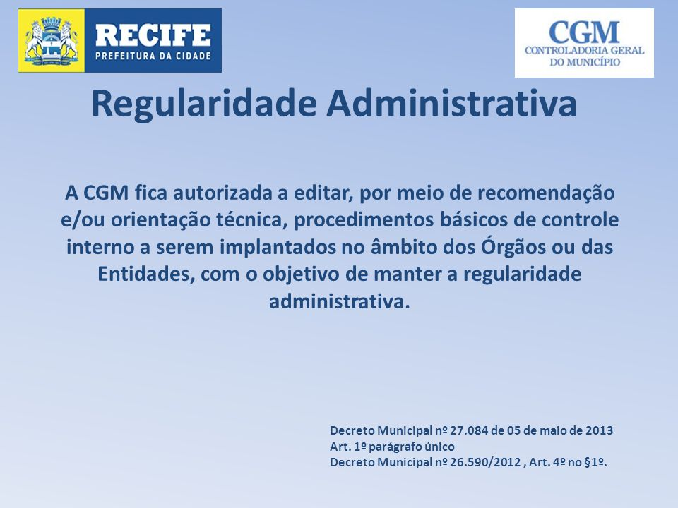 Regularidade Administrativa