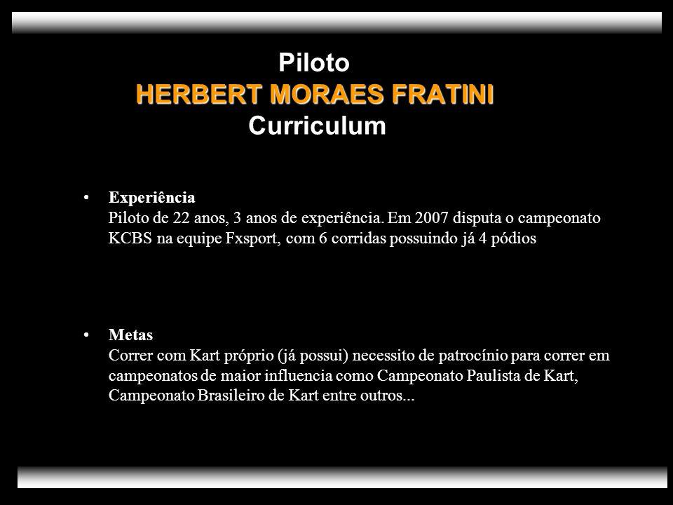 Piloto HERBERT MORAES FRATINI Curriculum