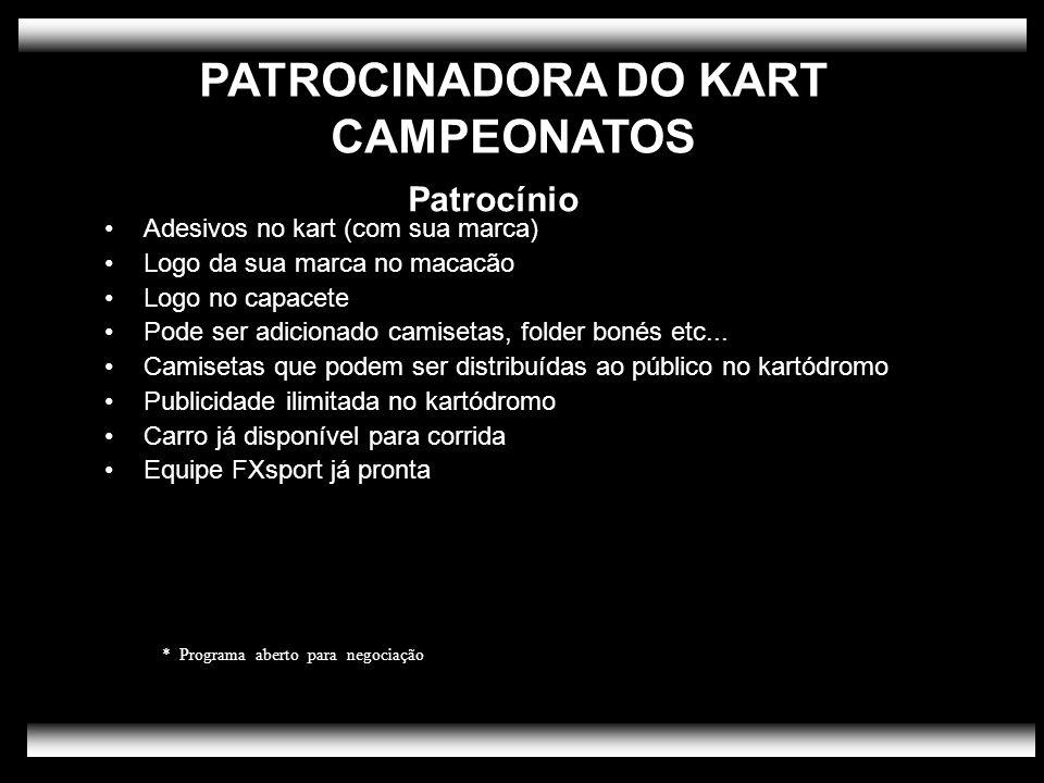 PATROCINADORA DO KART CAMPEONATOS Patrocínio
