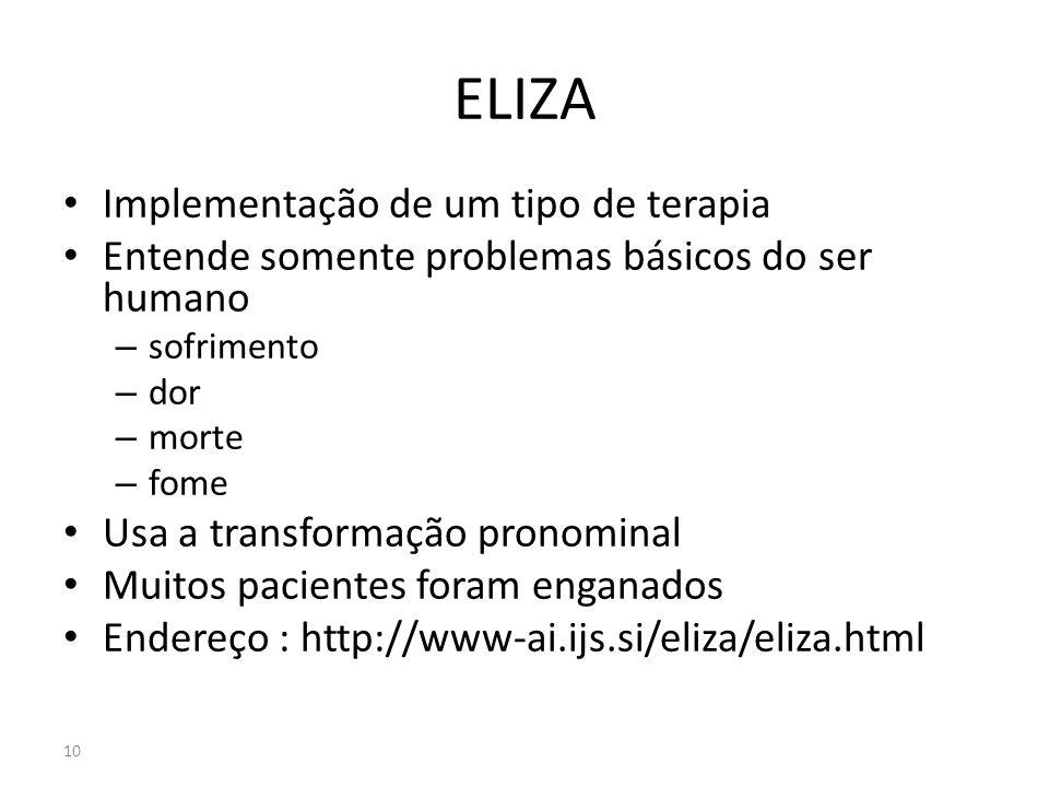 ELIZA Implementação de um tipo de terapia