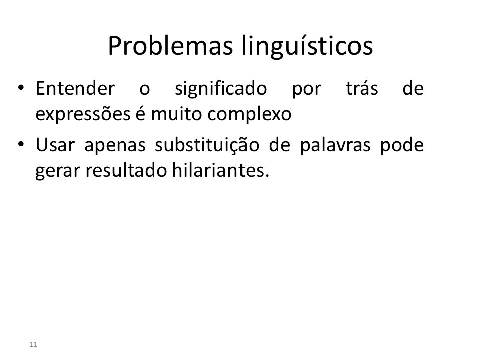 Problemas linguísticos