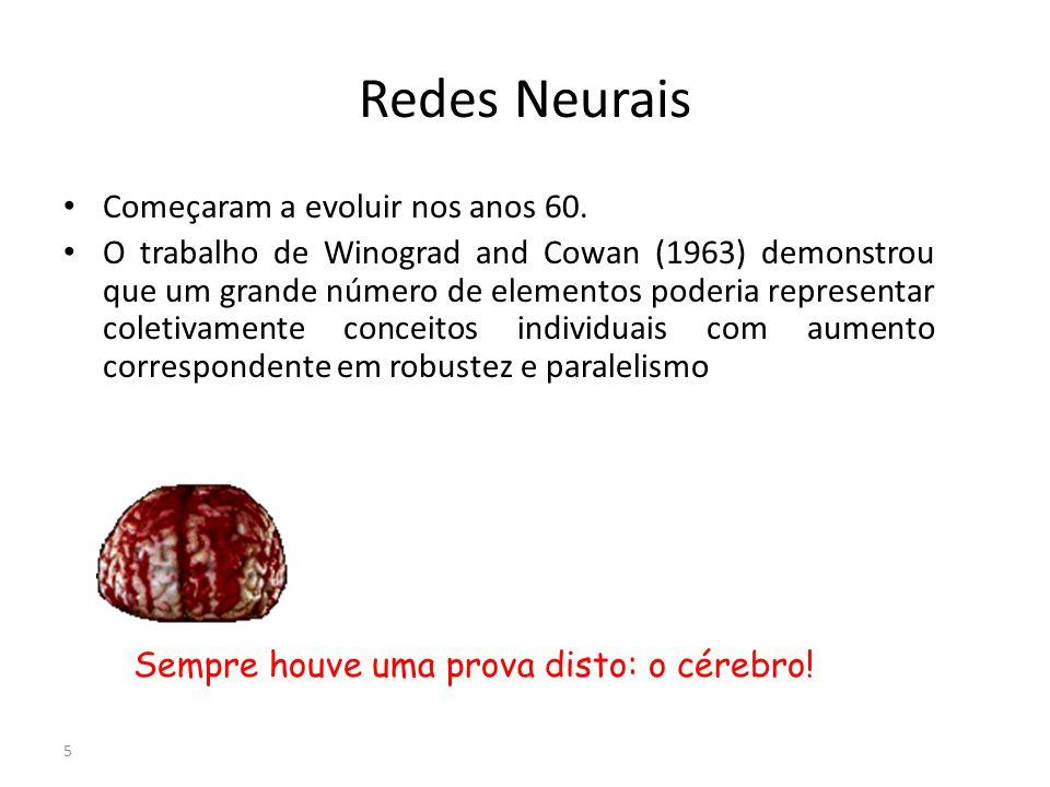 Redes Neurais Começaram a evoluir nos anos 60.