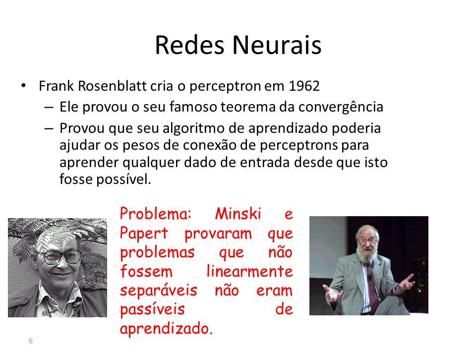 Redes Neurais Frank Rosenblatt cria o perceptron em 1962