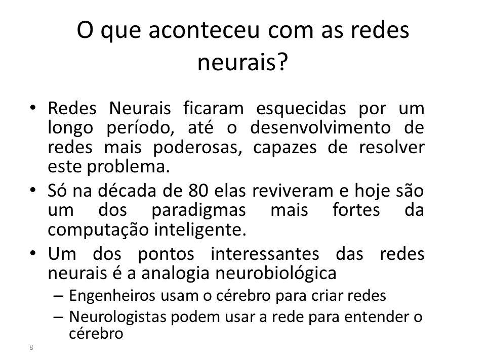 O que aconteceu com as redes neurais