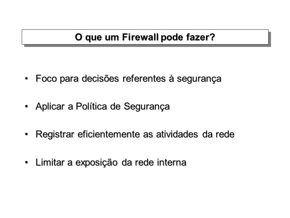 O que um Firewall NÃO pode fazer