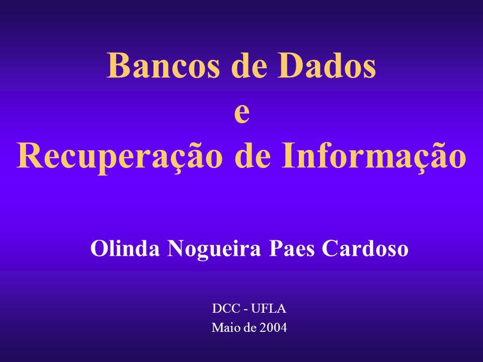 Bancos de Dados e Recuperação de Informação