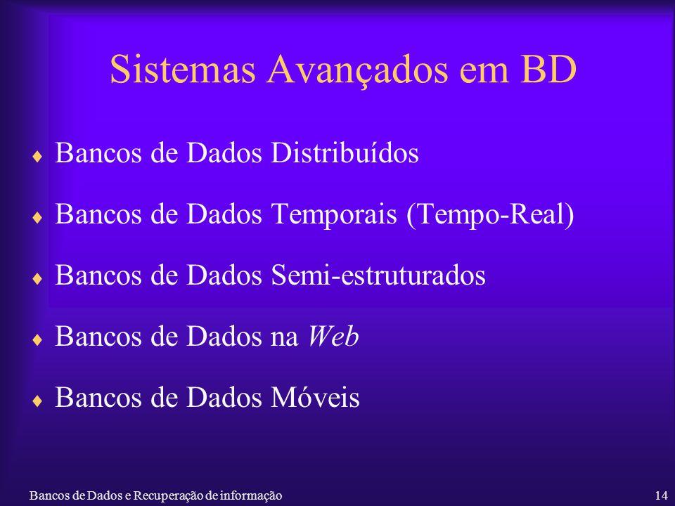 Sistemas Avançados em BD