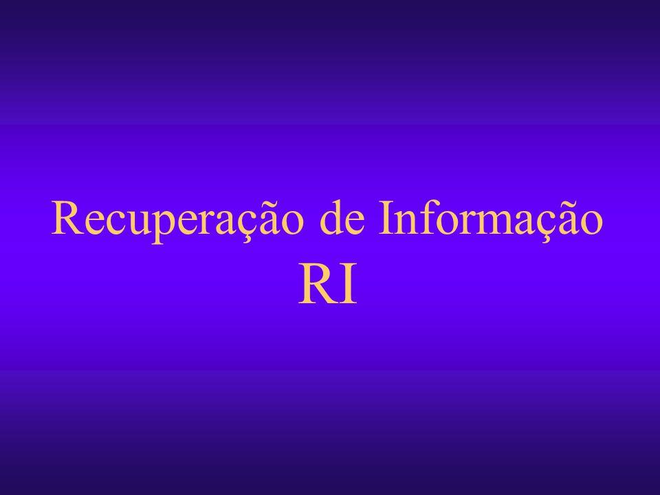 Recuperação de Informação RI