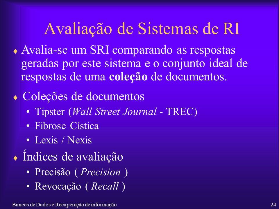 Avaliação de Sistemas de RI