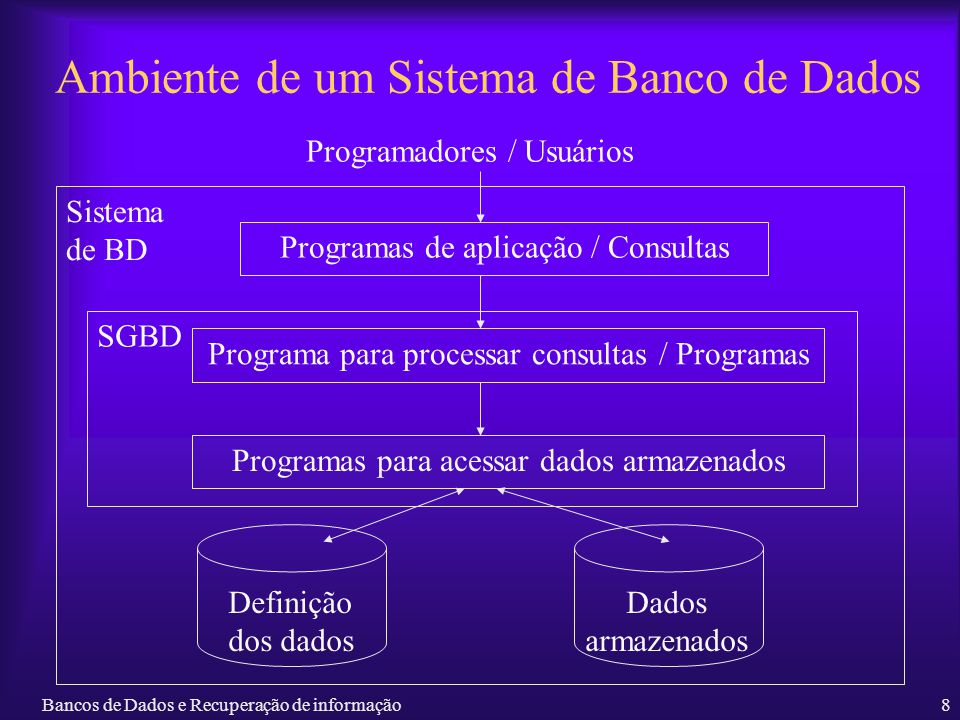 Ambiente de um Sistema de Banco de Dados