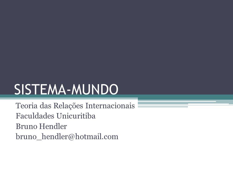 SISTEMA-MUNDO Teoria das Relações Internacionais