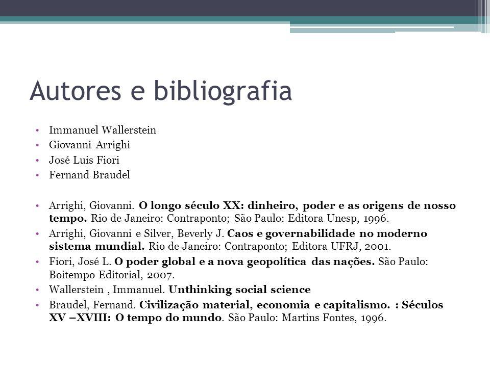 Autores e bibliografia