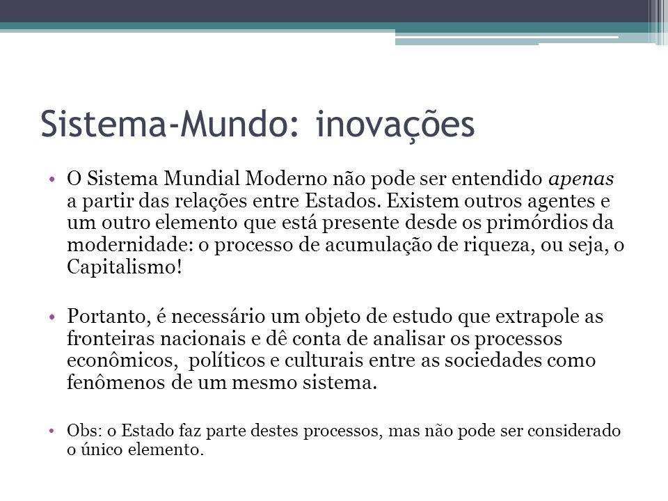 Sistema-Mundo: inovações