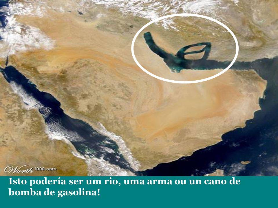 Isto podería ser um rio, uma arma ou un cano de bomba de gasolina!