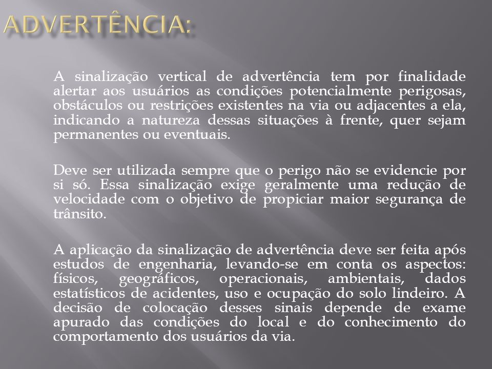 ADVERTÊNCIA: