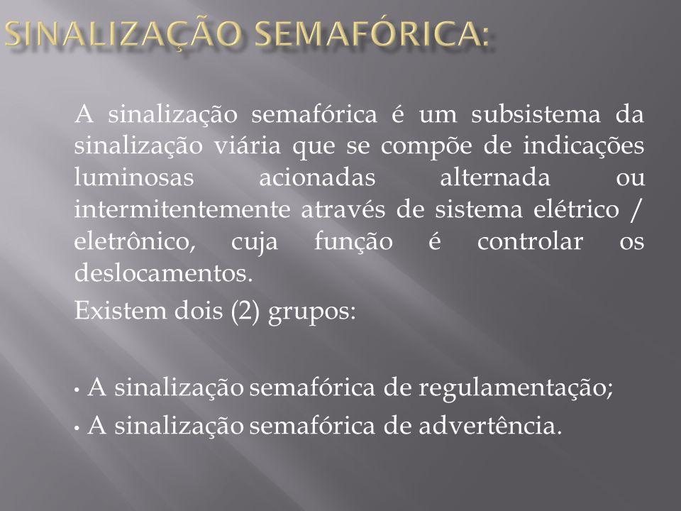 SINALIZAÇÃO SEMAFÓRICA: