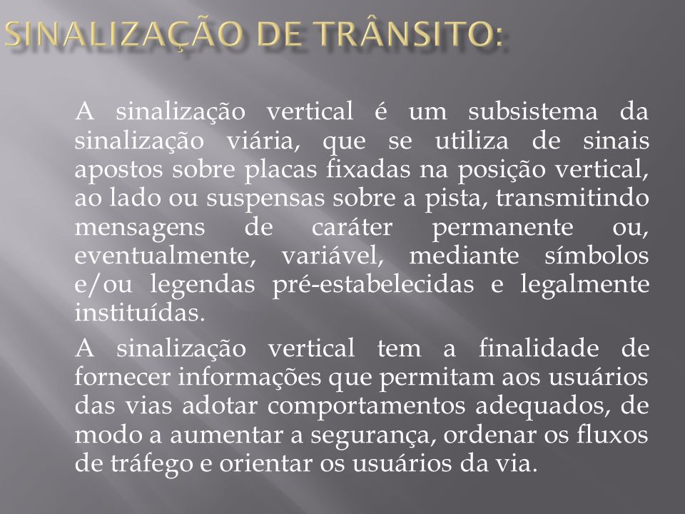 sinalização DE TRÂNSITO: