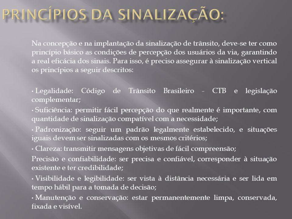PRINCÍPIOS DA SINALIZAÇÃO: