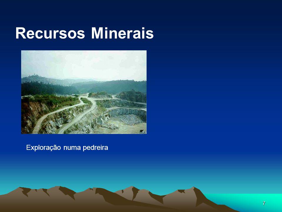 Recursos Minerais Exploração numa pedreira