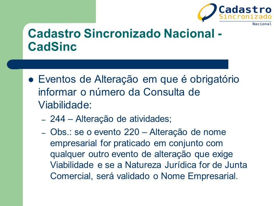 Cadastro Sincronizado Nacional - CadSinc
