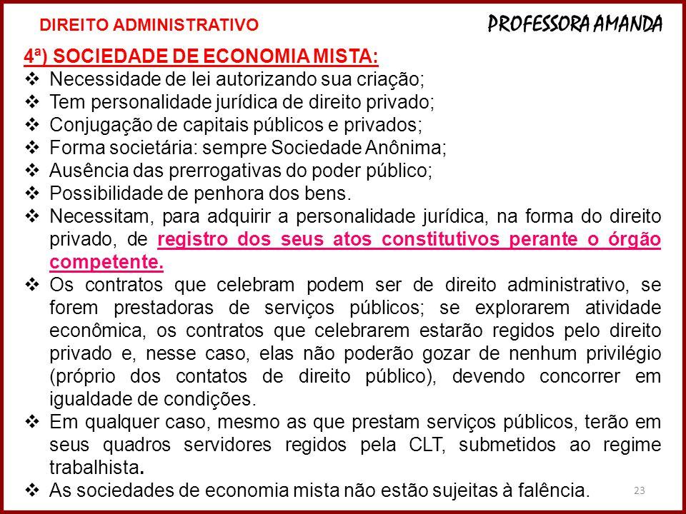 4ª) SOCIEDADE DE ECONOMIA MISTA: