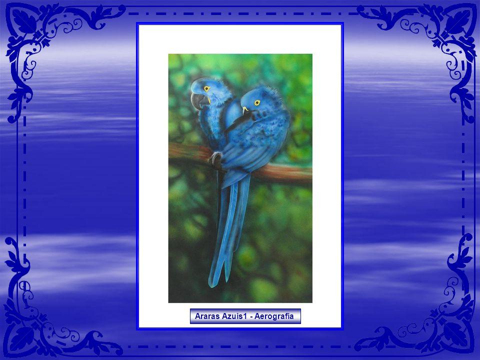 Araras Azuis1 - Aerografia