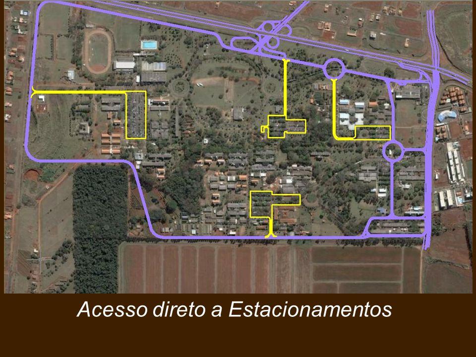 Acesso direto a Estacionamentos Vias Estruturais Perimetrais